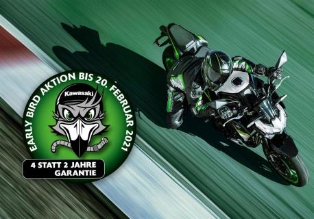 Kawasaki Early Bird Aktion – 2 Jahre Anschlussgarantie inklusive!